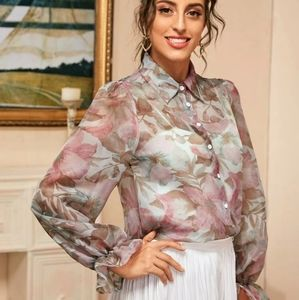 Guess Sheer blouse size medium